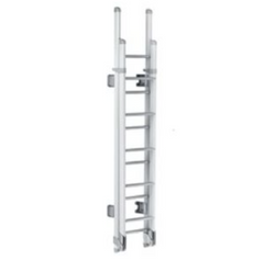 THULE LADDER DELUXE 11 STEPS (OVAL ARMS - WHITE LACQUERED - FOLDABLE)