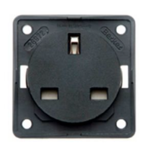 BERKER 230V UK MAINS SOCKET- ANTHRACITE