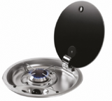 FC1345 ROUND 1 BURNER HOB WITH GLASS LID