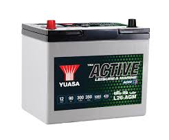 YUASA L-26 AGM ACTIVE LEISURE AND MARINE DEEP CYCLE BATTERY  (L26-AGM)