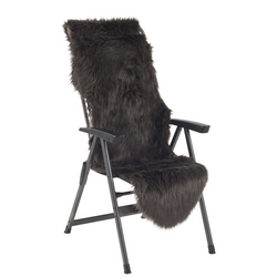 FURSKIN TYPE COVER FOR CHAIR - GREY