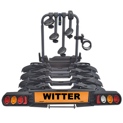 "WITTER ""Pure Instinct"" Towball Mounted 4 Bike Cycle Carrier with foldable rails ZX704"