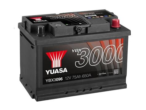 Yuasa YBX3096 Car Battery sealed 12v