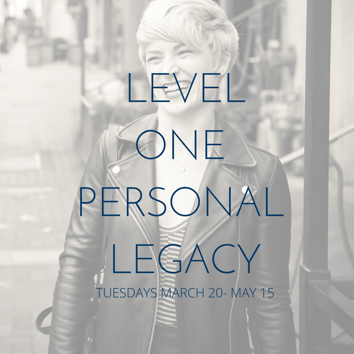 SOLD OUT- LEVEL ONE: PERSONAL LEGACY  VISION & GOALS SERIES WITH NANCY PERRY