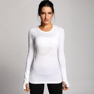 Fitness Junkies White / M PERFORMANCE LONG SLEEVE