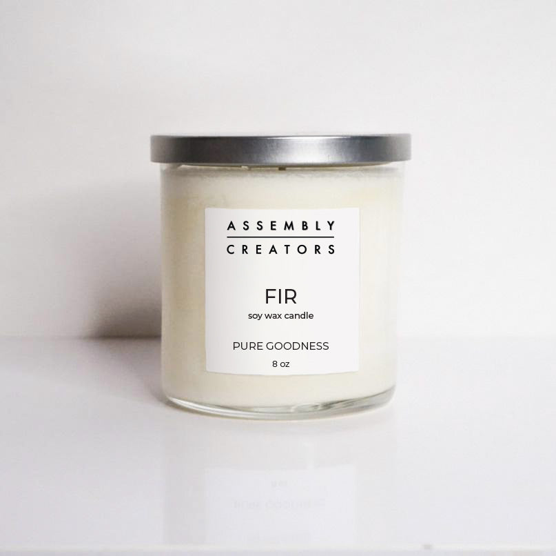 Hand Poured Luxury Soy Candle - Fir Scented