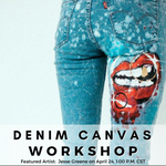 Artist Jesse Greene - April Denim Canvas Workshop