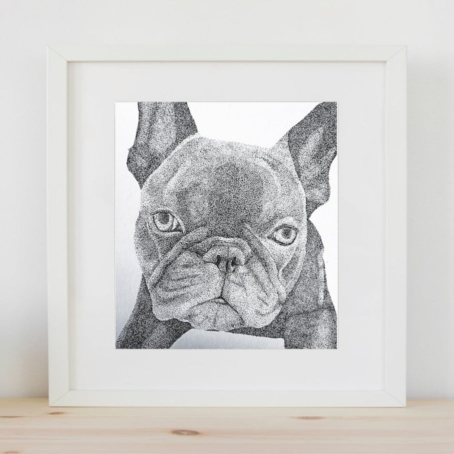 Custom Pointillism Pet Portrait