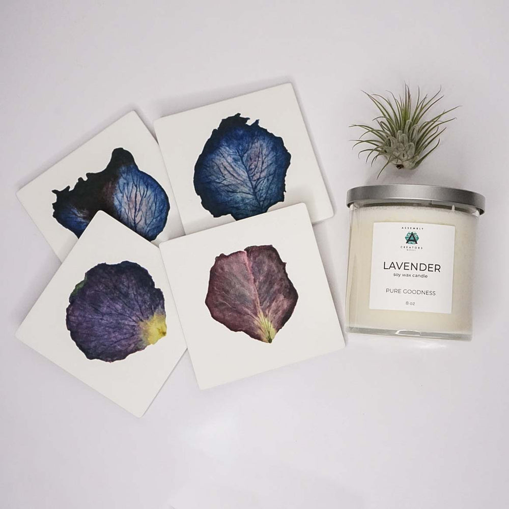 Candle & Coaster Gift Box