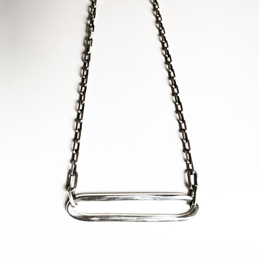 Ellipse Necklace - Bronze or Silver