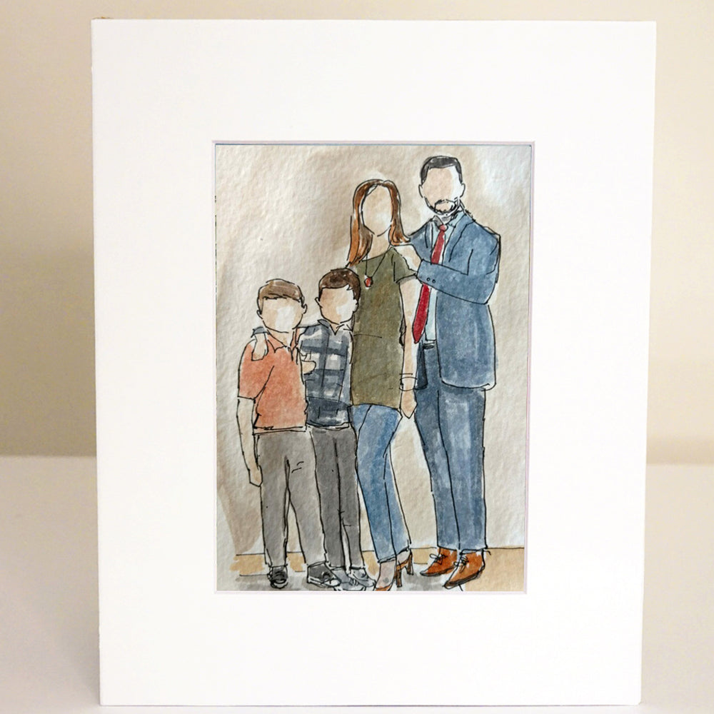 Family or Personal Custom Watercolor Portrait