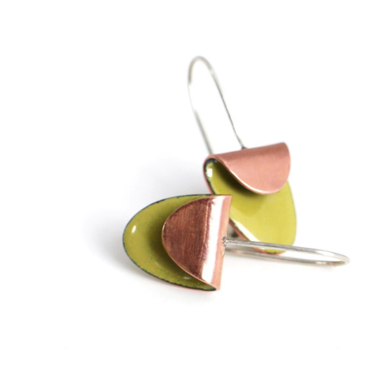Alisha Louise Jewelry - Folded Oval Earrings