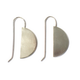 Modern Handcrafted Sterling Silver Earrings