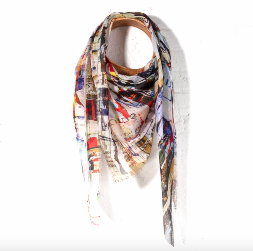 Abstract Woman's Silk Scarf