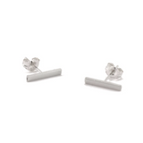 Sterling Silver Stick Stud Earrings