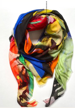 HJ Paris Oversized Silk Scarf
