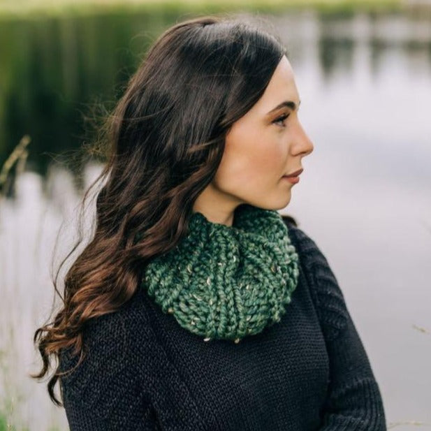 Knit Mini Cowl Scarf