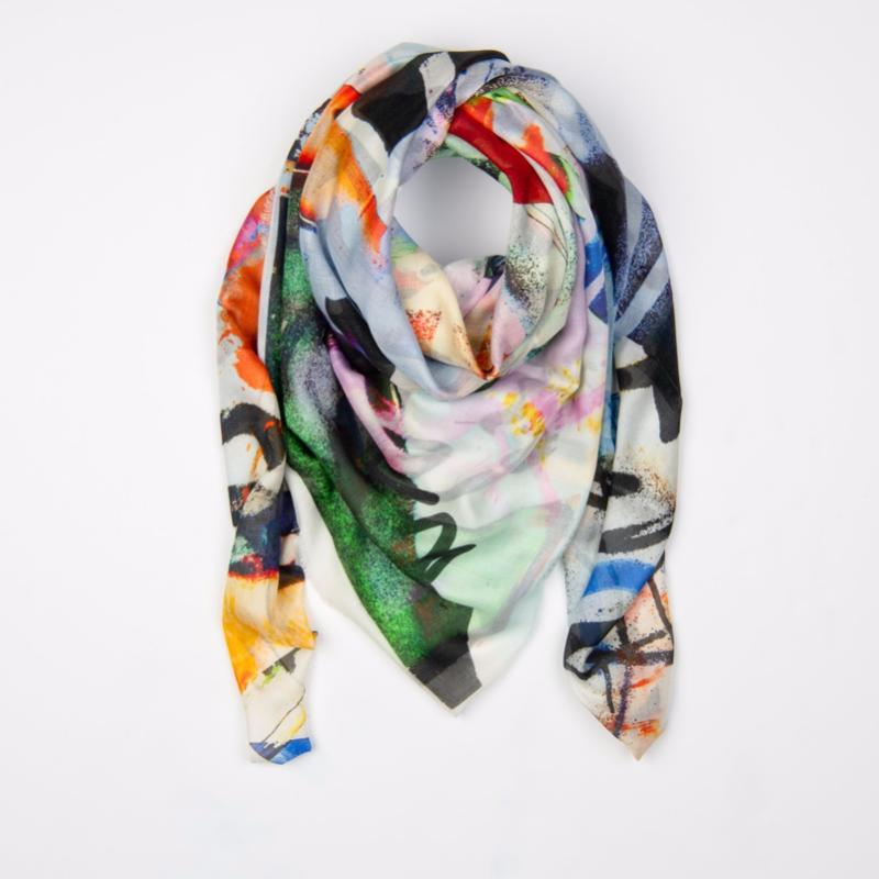 Modern Silk Woman's Scarf