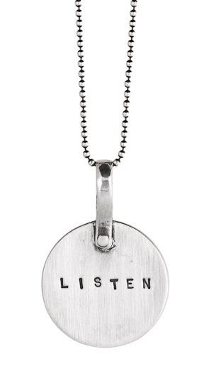 """Listen"" Necklace"