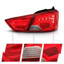 Load image into Gallery viewer, ANZO 14-18 Chevrolet Impala LED Taillights Red/Clear - 321346