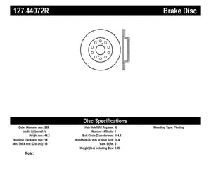 StopTech Slotted & Drilled Sport Brake Rotor - 127.44072R,throtl-dev.