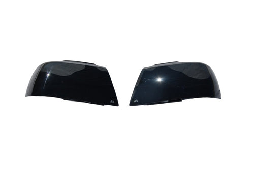 AVS 10-13 Chevy Camaro Headlight Covers - Smoke - 37045