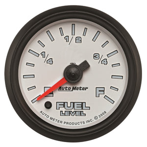 Autometer Pro-Cycle Gauge Fuel Level 2 1/16in 0-280 Programmable White - 19509,throtl-dev.