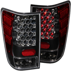 ANZO 2004-2015 Nissan Titan LED Taillights Black - 311039
