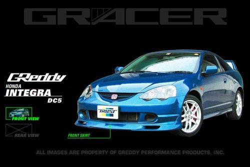 GReddy 02-04 Acura RSX Urethane Front Lip Spoiler - 17050072