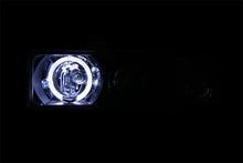 Load image into Gallery viewer, ANZO 1998-2005 Chevrolet S-10 Projector Headlights w/ Halo Black - 111015