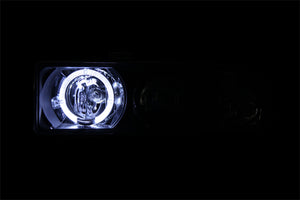 ANZO 1998-2005 Chevrolet S-10 Projector Headlights w/ Halo Black - 111015