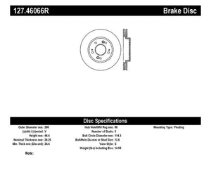 StopTech Slotted & Drilled Sport Brake Rotor - 127.46066R,throtl-dev.