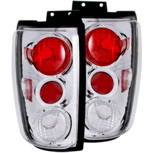 ANZO 1997-2002 Ford Expedition Taillights Chrome - 211055