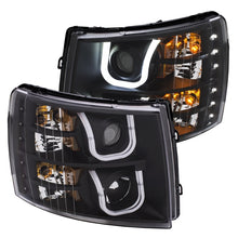 Load image into Gallery viewer, ANZO 2007-2013 Chevrolet Silverado 1500/2500 Projector Headlights w/ U-Bar Switchback - 111384