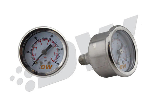 DeatschWerks 0-100 PSI 1/8in NPT Mechanical Fuel Pressur - 6-01-G