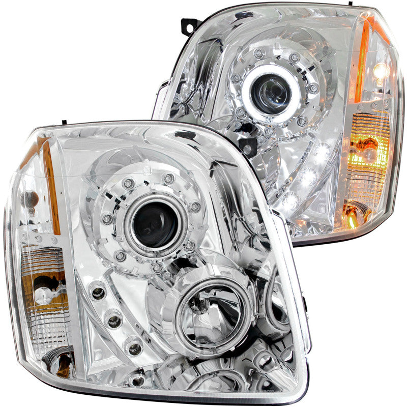 ANZO 2007-2014 Gmc Yukon Projector Headlights w/ Halo Chrome (CCFL) - 111147