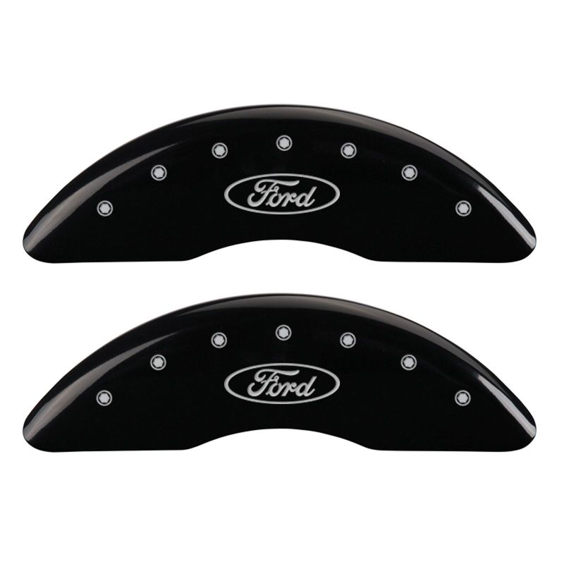 MGP 4 Caliper Covers Engraved Front & Rear Oval logo/Ford - 10023SFRDBK,throtl-dev.
