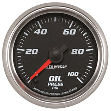 Load image into Gallery viewer, Autometer Pro-Cycle Gauge Oil Pressure 2 1/16in 100psi Digital Stepper - 19652,throtl-dev.