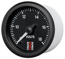 Load image into Gallery viewer, Autometer Stack 52mm 8-18V Pro Stepper Motor Battery Voltage Gauge - ST3316,throtl-dev.