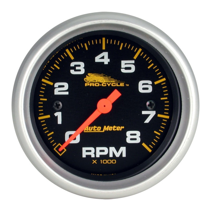 Autometer Pro-Cycle Gauge Tach 2 5/8in 8K Rpm 2&4 Cylinder - 19324,throtl-dev.