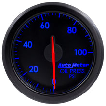 Load image into Gallery viewer, Autometer Airdrive 2-1/6in Oil Pressure Gauge 0-100 PSI - Black - 9152-T,throtl-dev.