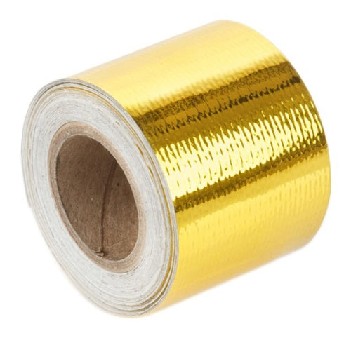 Torque Solution Gold Reflective Heat Tape 2in x 15ft - TS-GT-2X15