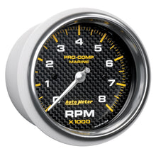 Load image into Gallery viewer, Autometer Marine Carbon Fiber 3-3/8in 8k RPM Tachometer - 200779-40,throtl-dev.