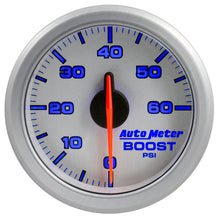 Load image into Gallery viewer, Autometer Airdrive 2-1/6in Boost Gauge 0-60 PSI - Silver - 9160-UL,throtl-dev.