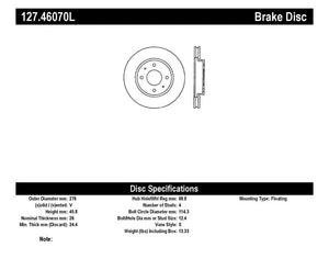 StopTech Slotted & Drilled Sport Brake Rotor - 127.46070L,throtl-dev.