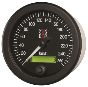 Autometer Stack 88mm 0-260 KM/H Electronic Speedometer - Black - ST3802,throtl-dev.