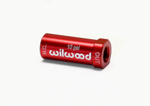 Wilwood Residual Pressure Valve - New Style 10# / Red - 260-13707
