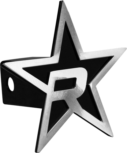 RBP Black Star Hitch Cover - Brushed 5in. Star (For 2in. - RBP-7504-RX3