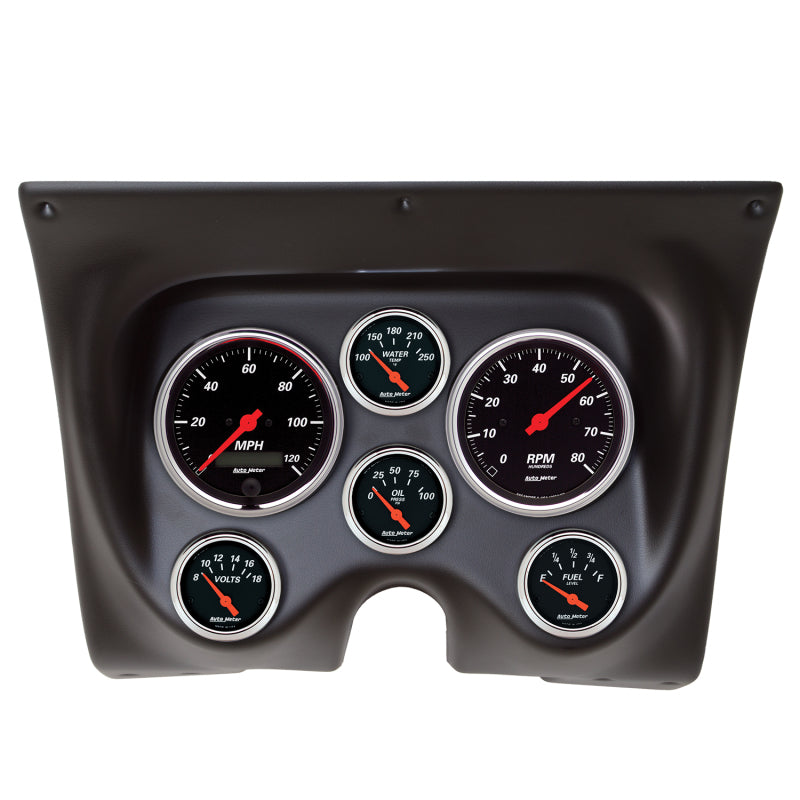 Autometer Designer Black 67-68 Camaro/Firebird Dash Kit 6pc Tach / - 7020-DB,throtl-dev.
