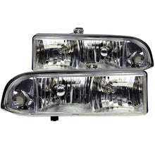Load image into Gallery viewer, ANZO 1998-2005 Chevrolet S-10 Crystal Headlights Chrome - 111014